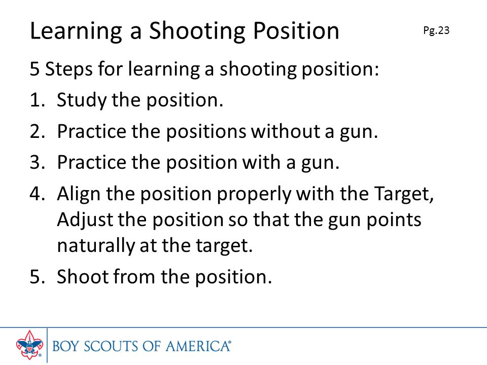 Learning a Shooting Position