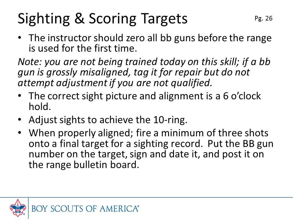 Sighting & Scoring Targets