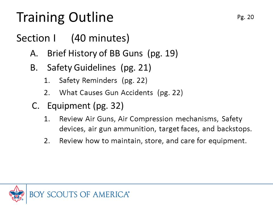 Training Outline Section I (40 minutes)