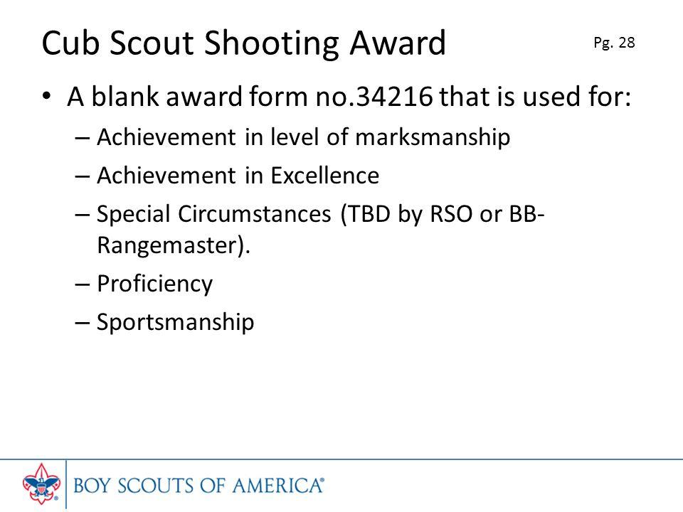 Cub Scout Shooting Award