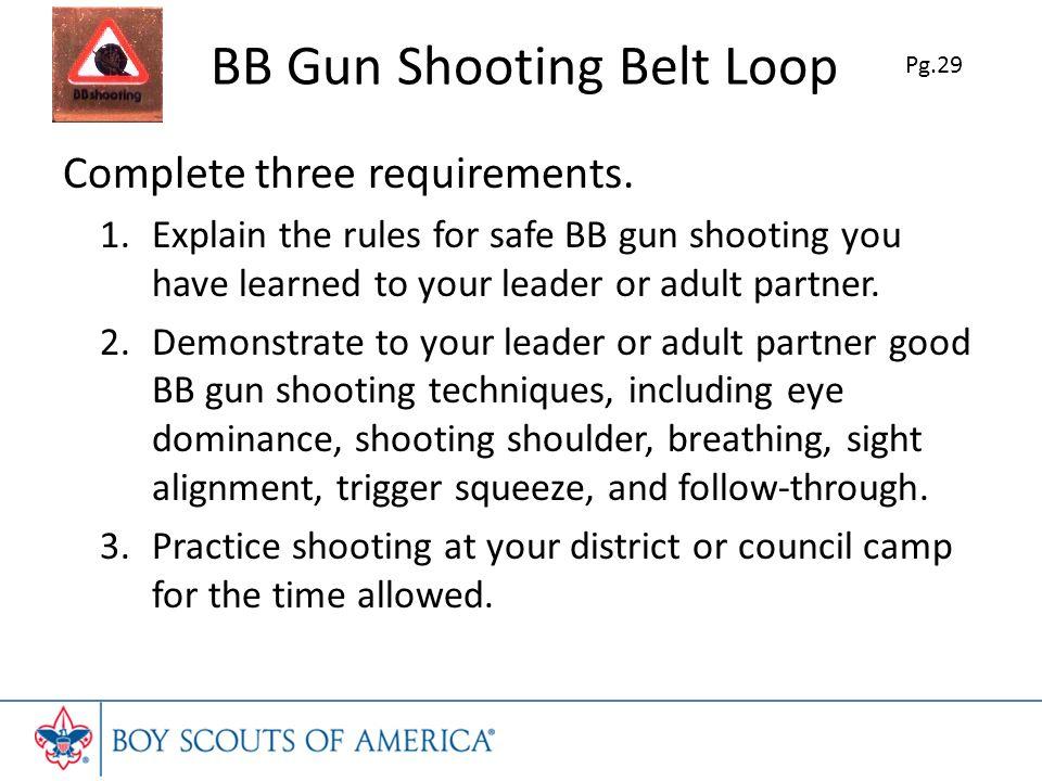 BB Gun Shooting Belt Loop