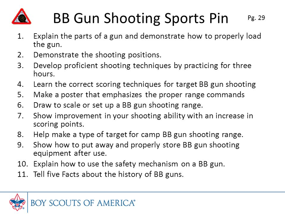 BB Gun Shooting Sports Pin