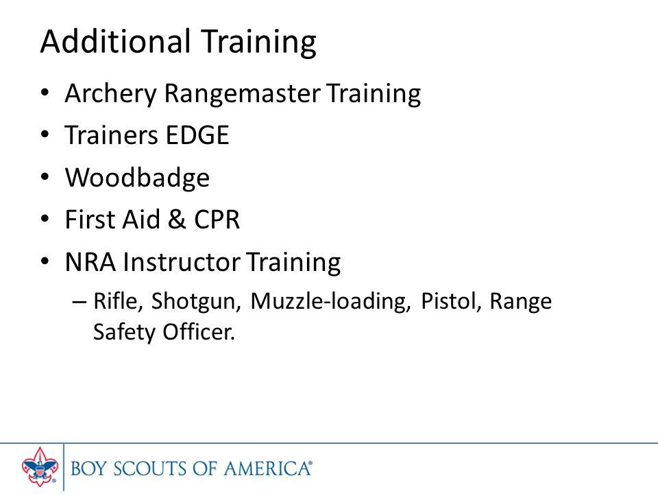 Additional Training Archery Rangemaster Training Trainers EDGE
