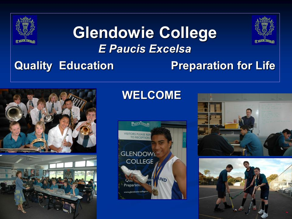 Glendowie College E Paucis Excelsa Quality Education Preparation for Life