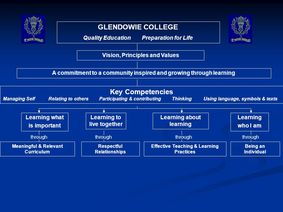 GLENDOWIE COLLEGE Key Competencies