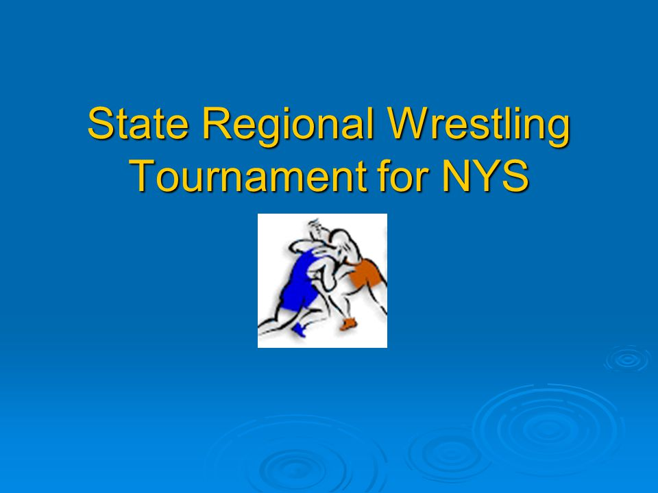 State Regional Wrestling Tournament for NYS