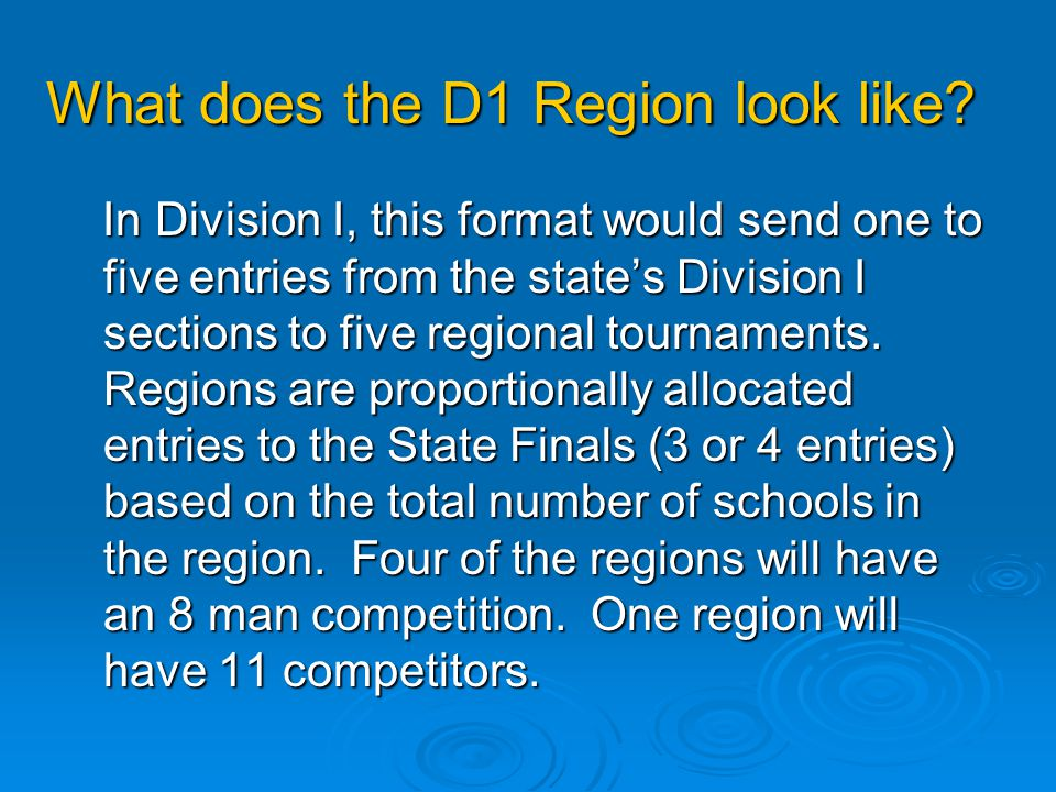 What does the D1 Region look like