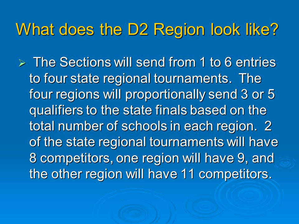 What does the D2 Region look like