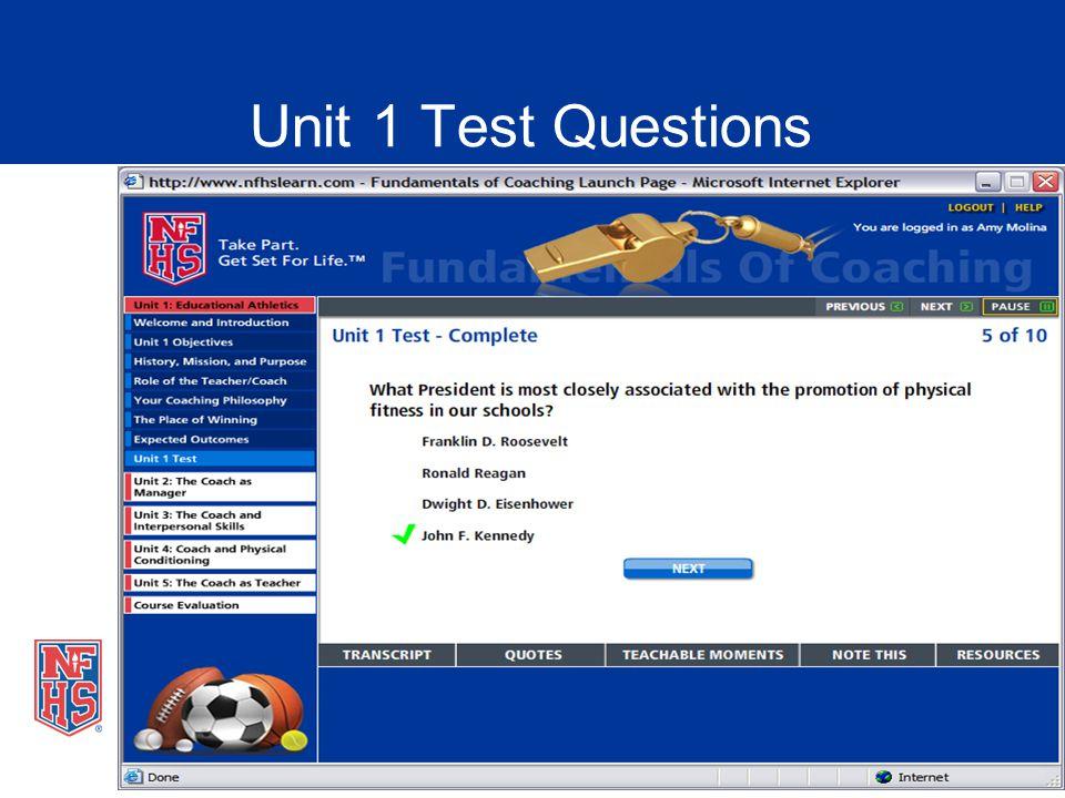 Unit 1 Test Questions