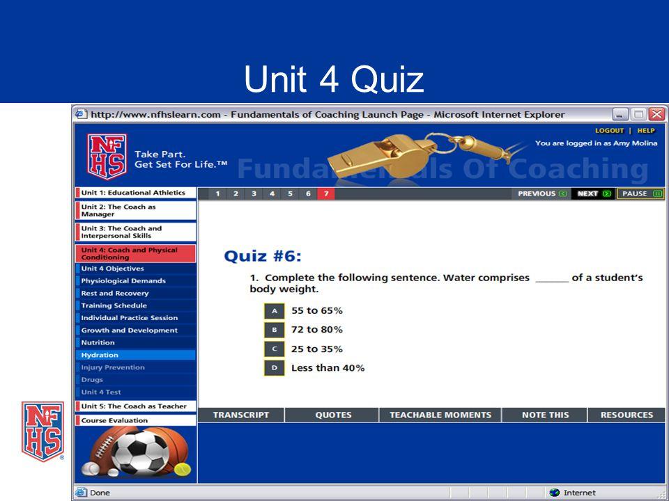 Unit 4 Quiz