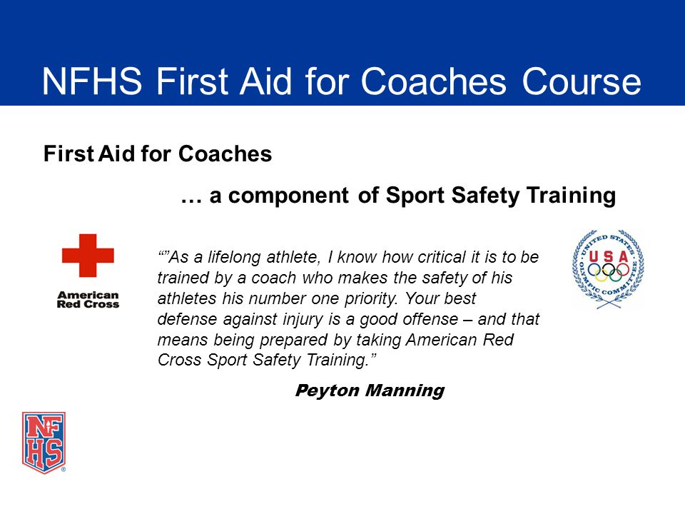 NFHS First Aid for Coaches Course