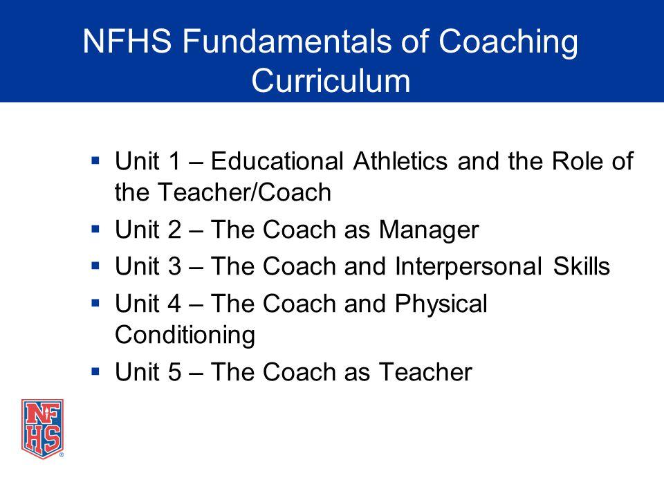 NFHS Fundamentals of Coaching Curriculum