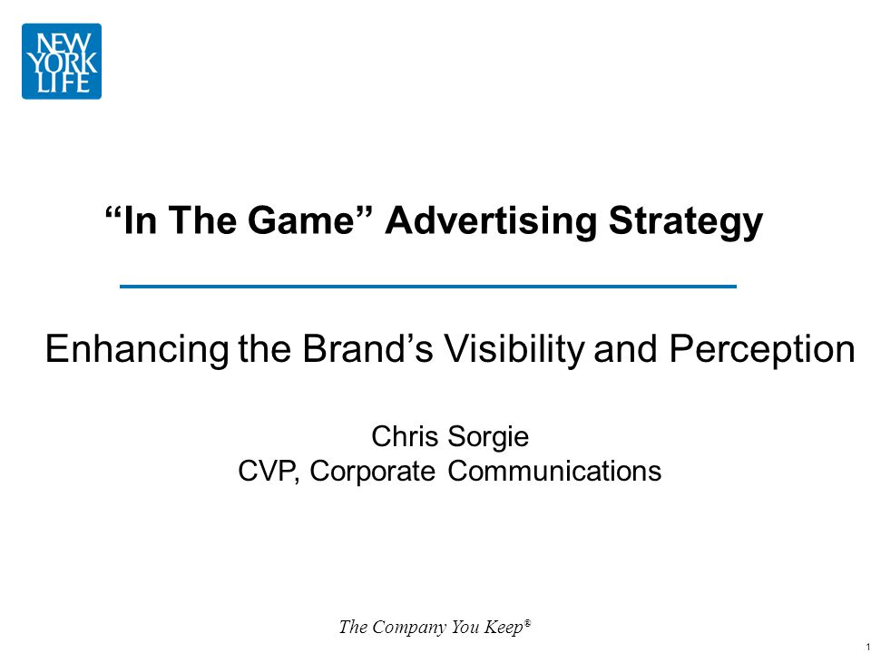 In The Game Advertising Strategy