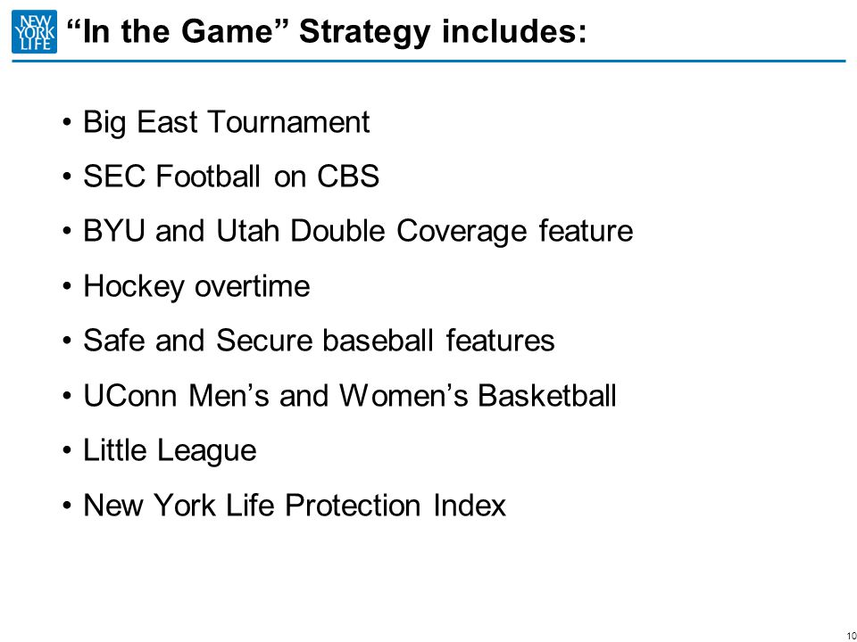 In the Game Strategy includes: