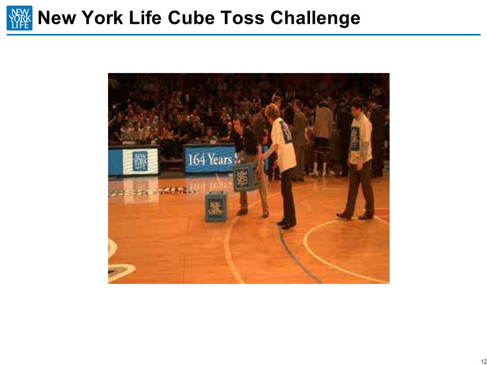 New York Life Cube Toss Challenge