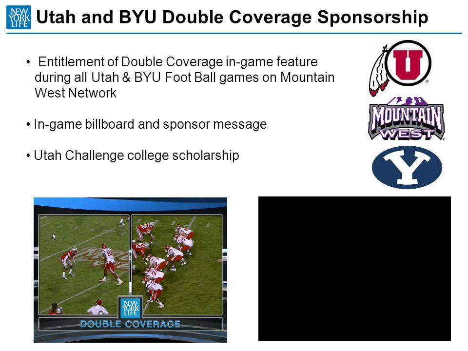 Utah and BYU Double Coverage Sponsorship