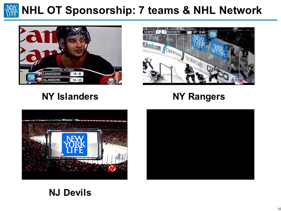 NHL OT Sponsorship: 7 teams & NHL Network