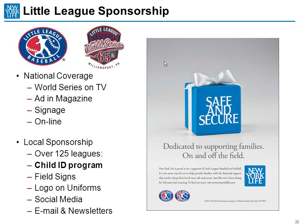 Little League Sponsorship