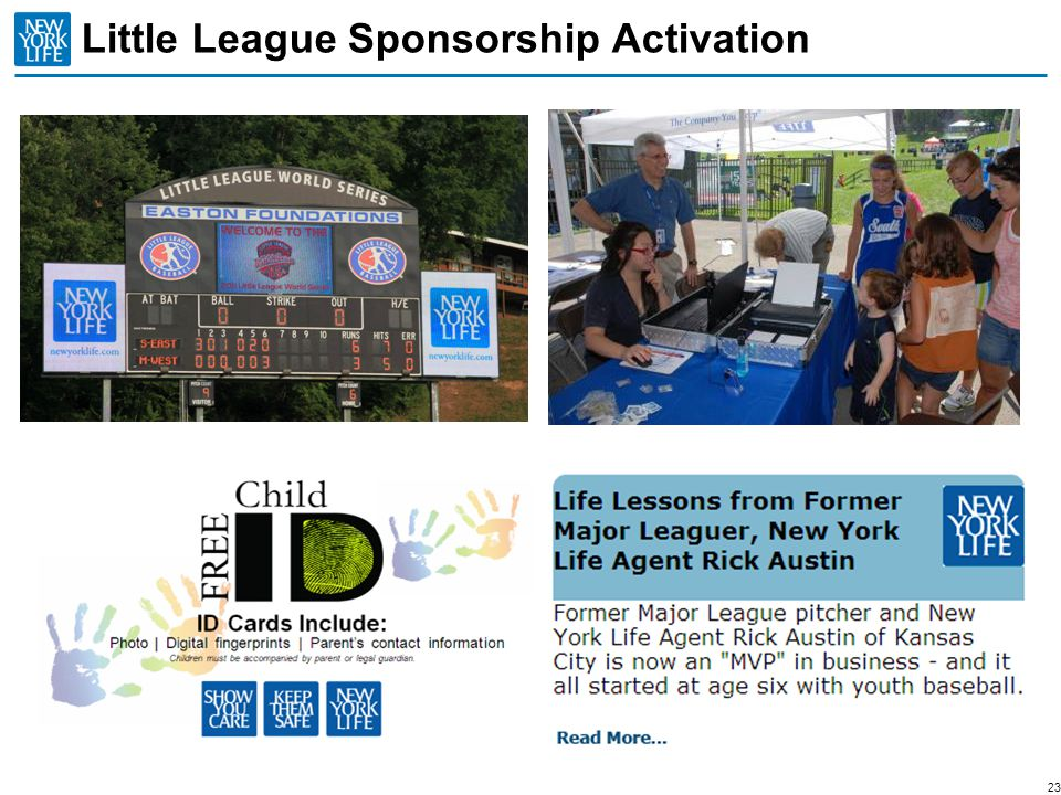 Little League Sponsorship Activation