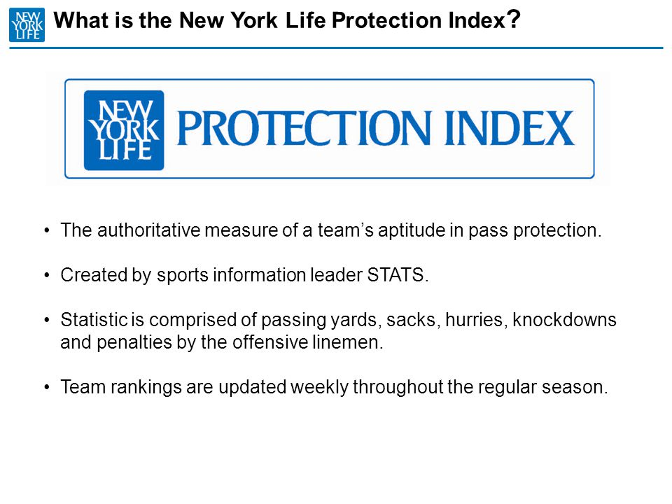 What is the New York Life Protection Index