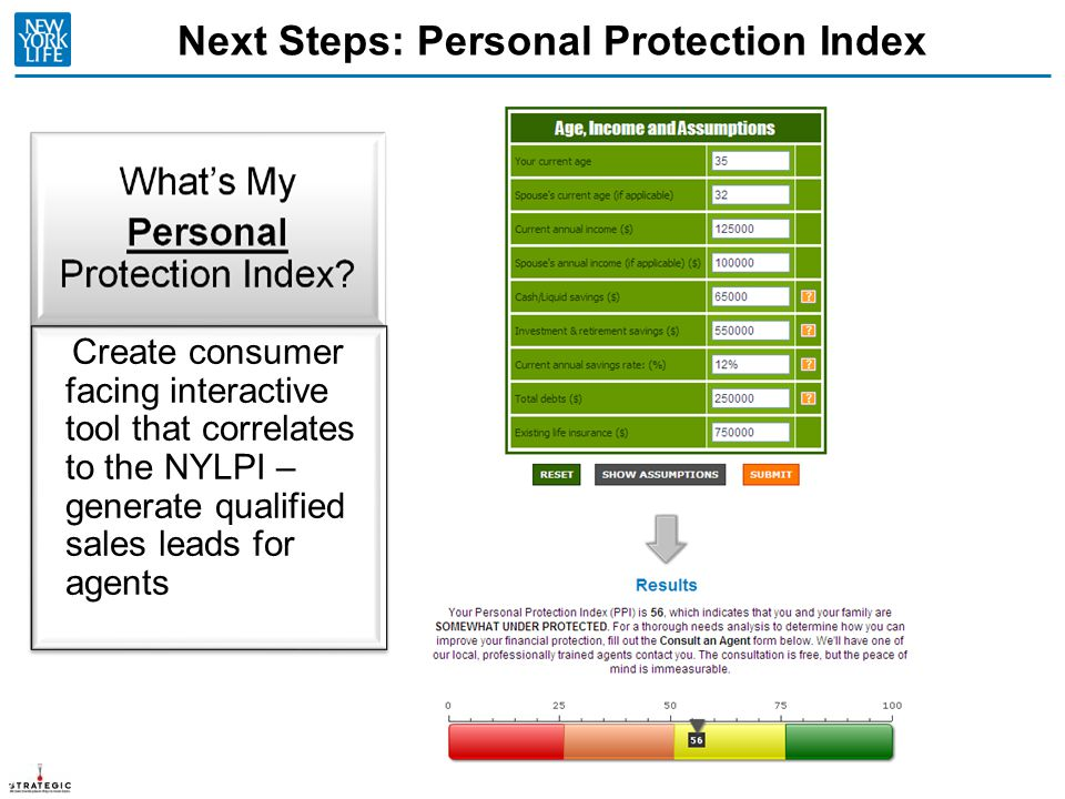Next Steps: Personal Protection Index