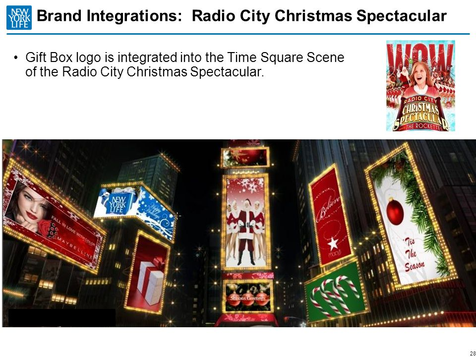 Brand Integrations: Radio City Christmas Spectacular