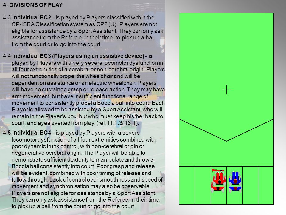 4. DIVISIONS OF PLAY