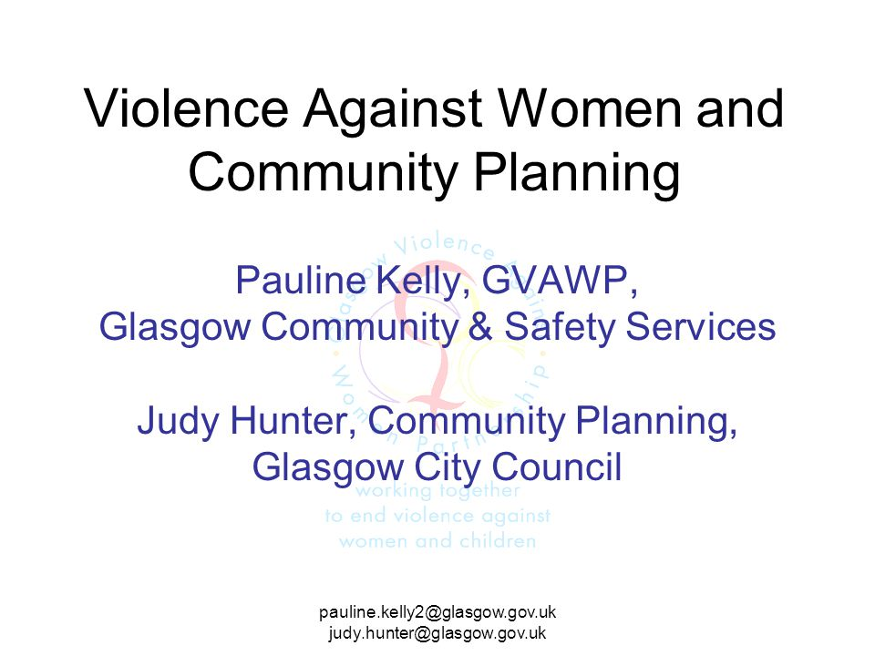 Violence Against Women and Community Planning