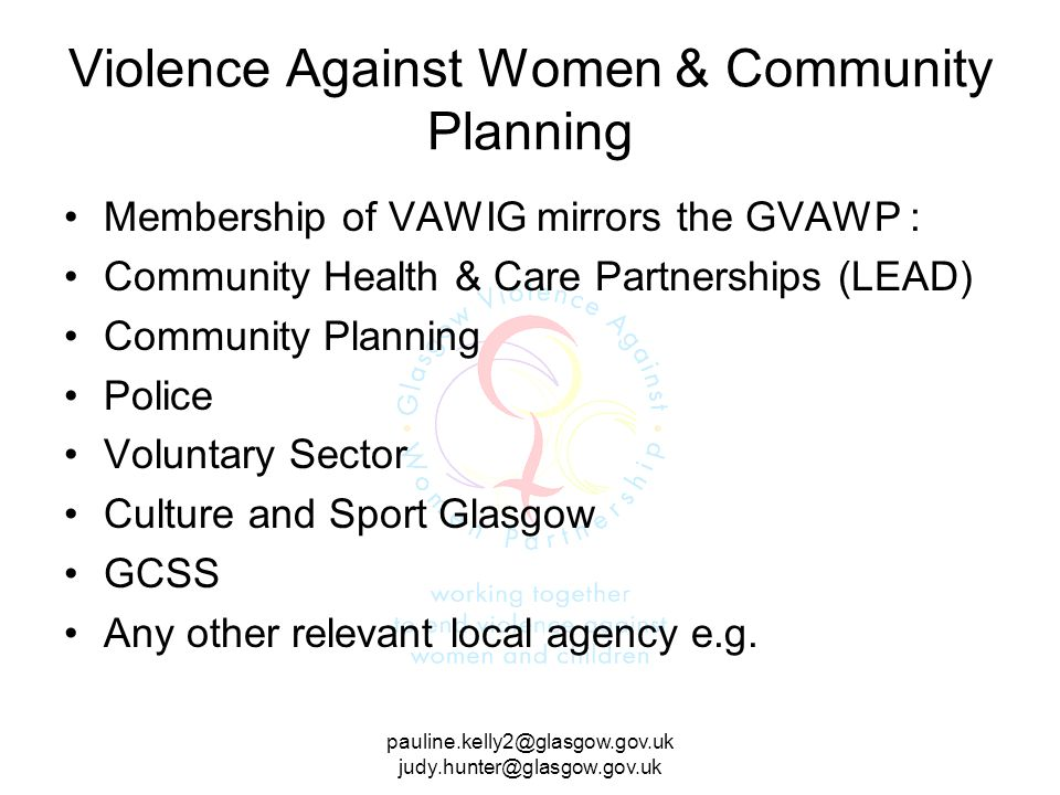 Violence Against Women & Community Planning