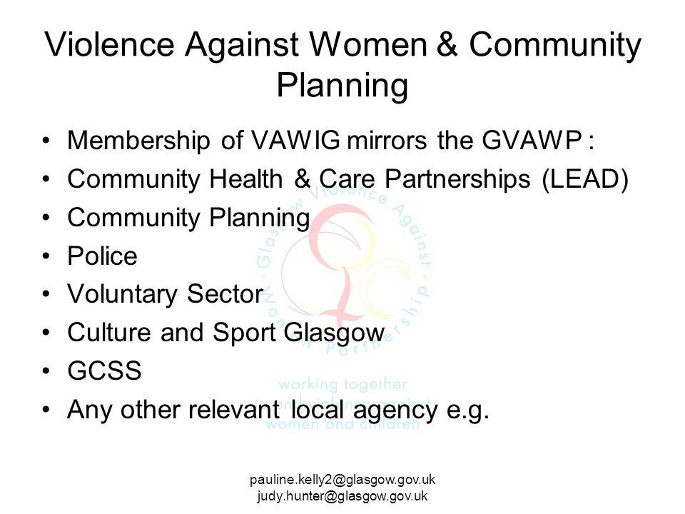 Violence Against Women & Community Planning