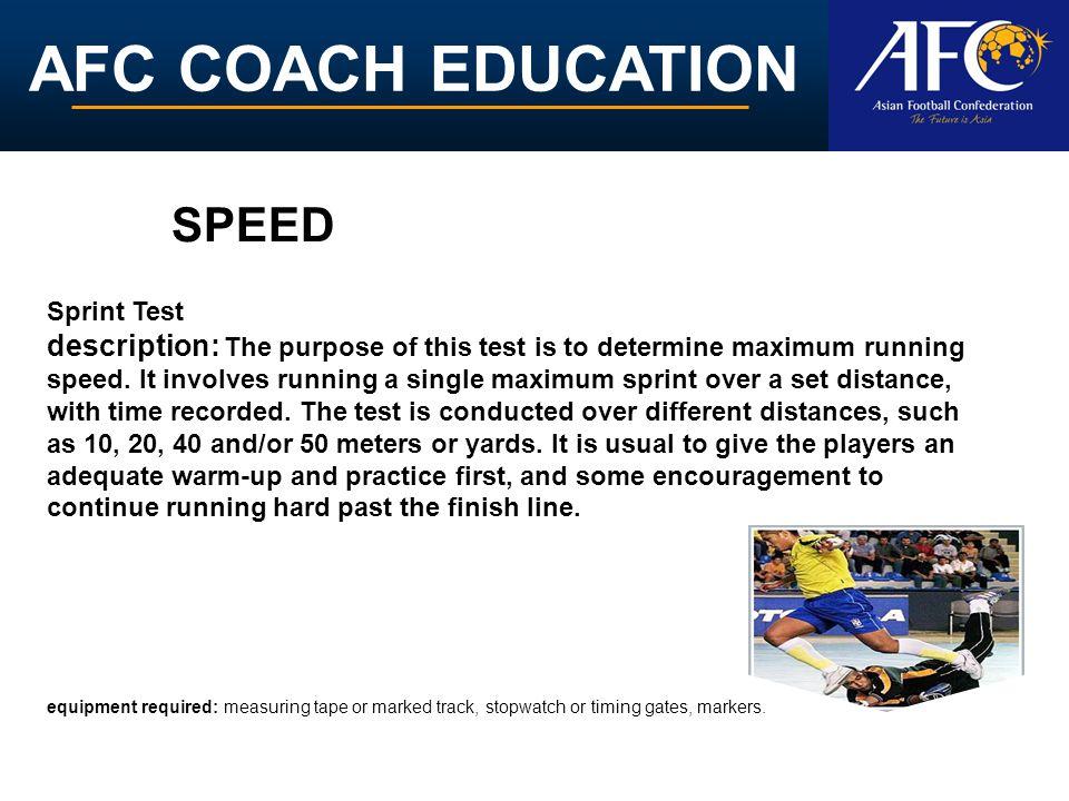 SPEED Sprint Test.