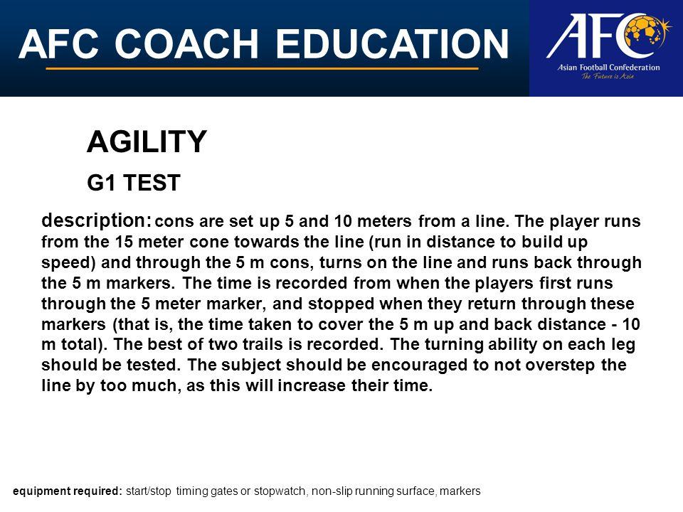AGILITY G1 TEST.
