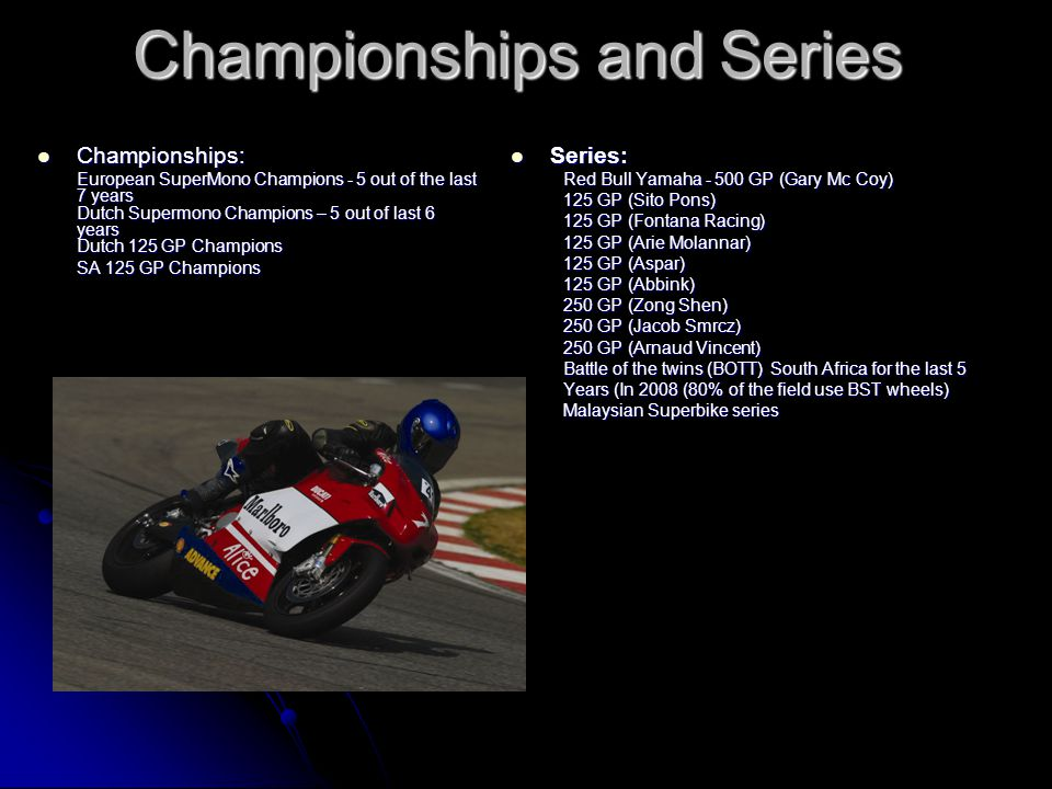Championships and Series