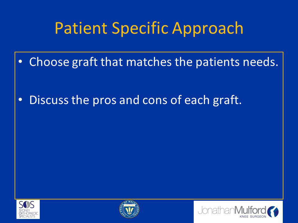Patient Specific Approach
