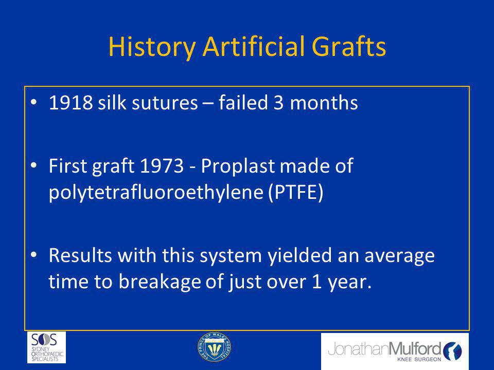 History Artificial Grafts