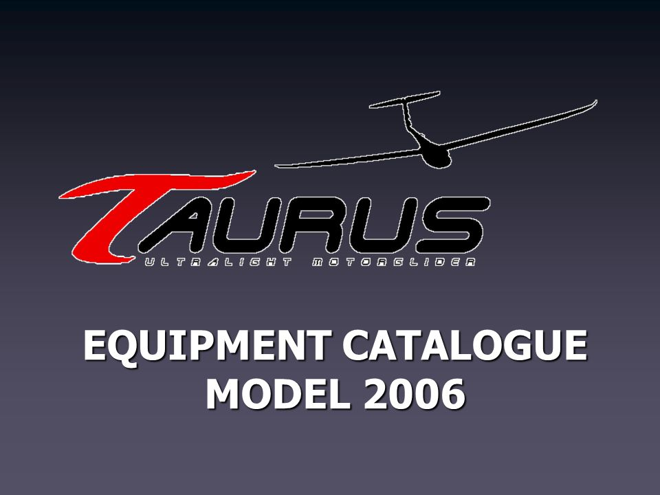 EQUIPMENT CATALOGUE MODEL 2006