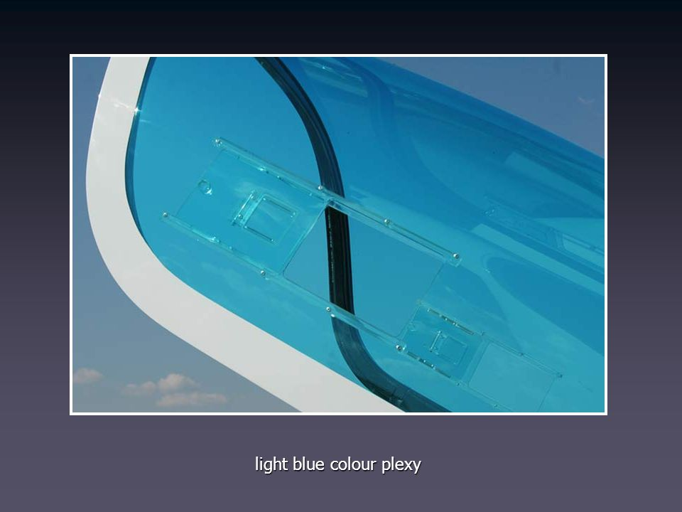 light blue colour plexy