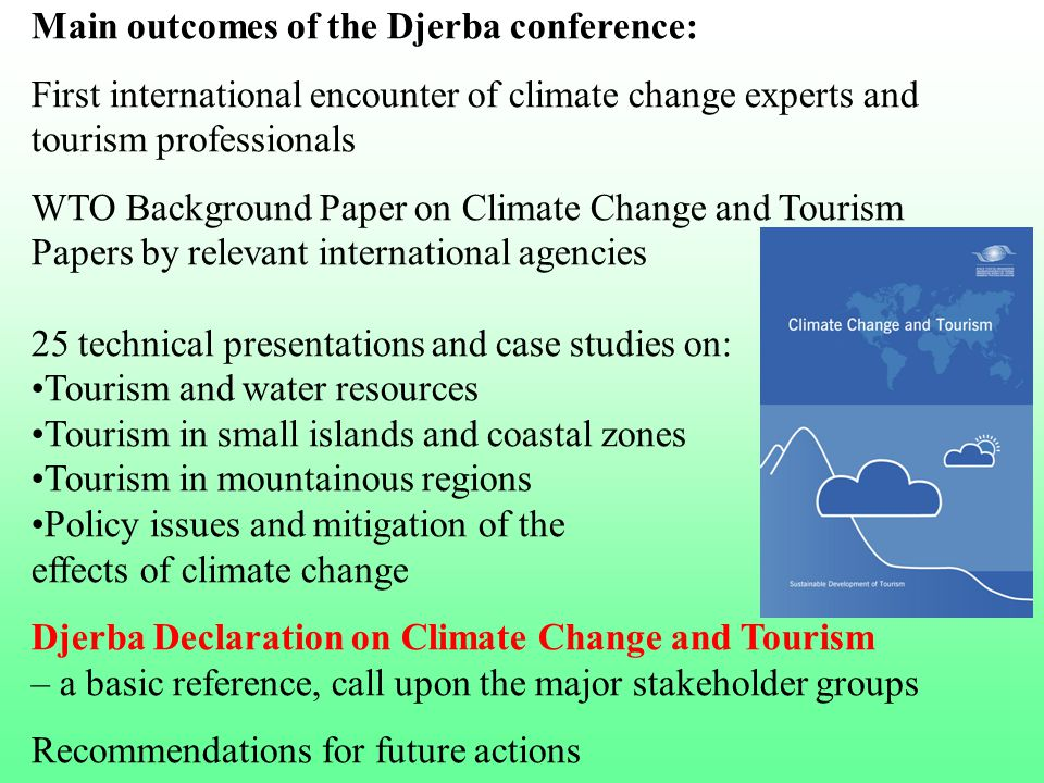 Main outcomes of the Djerba conference:
