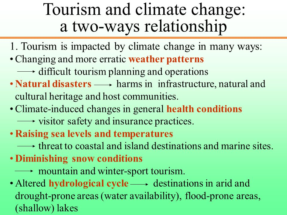 Tourism and climate change: a two-ways relationship