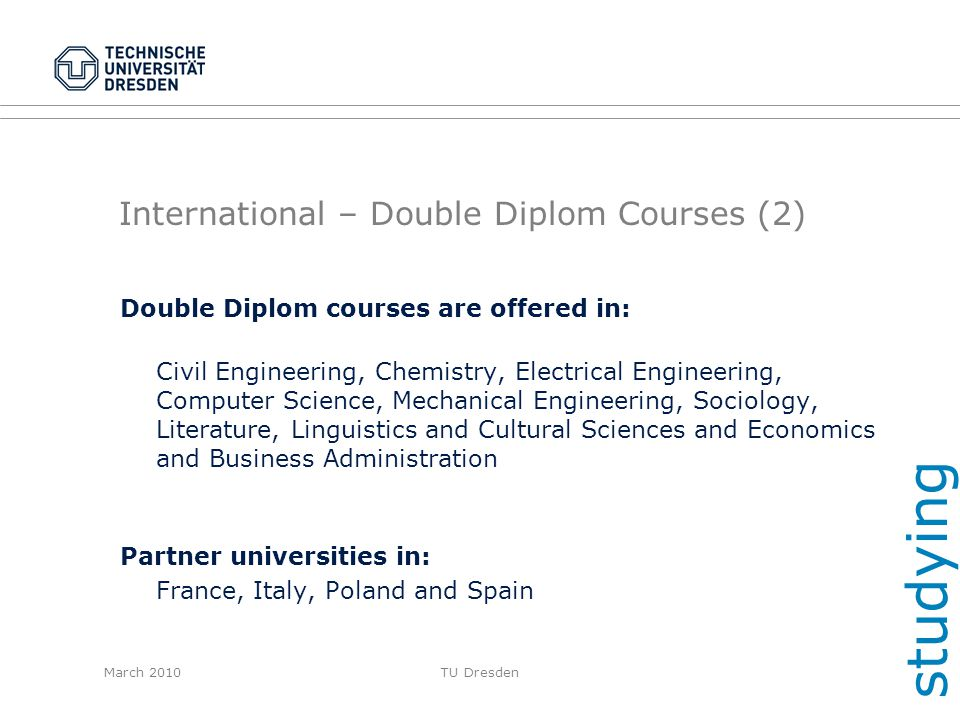 International – Double Diplom Courses (2)