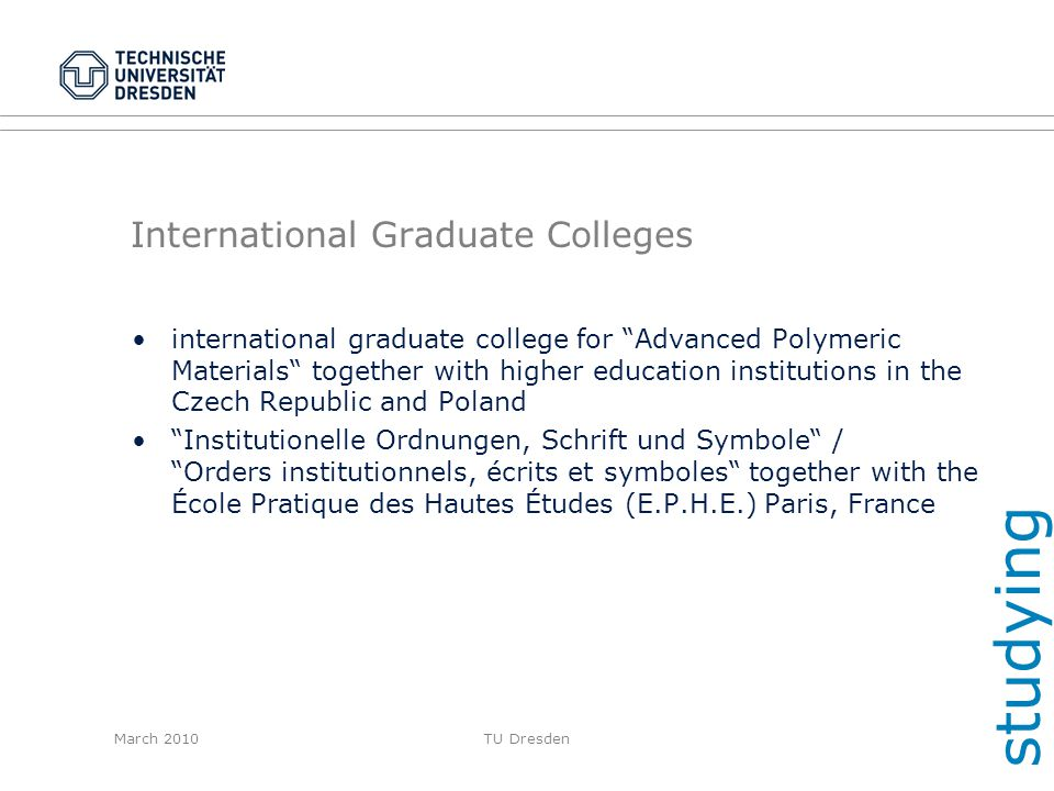 International Graduate Colleges
