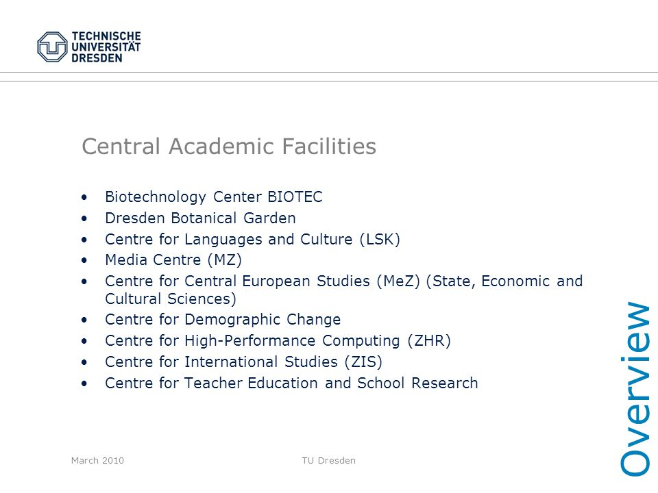 Central Academic Facilities