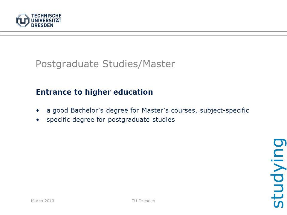 Postgraduate Studies/Master