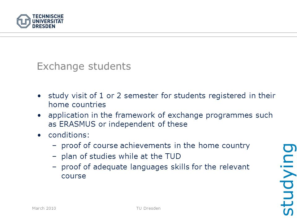 studying Exchange students