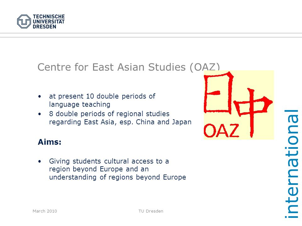 Centre for East Asian Studies (OAZ)