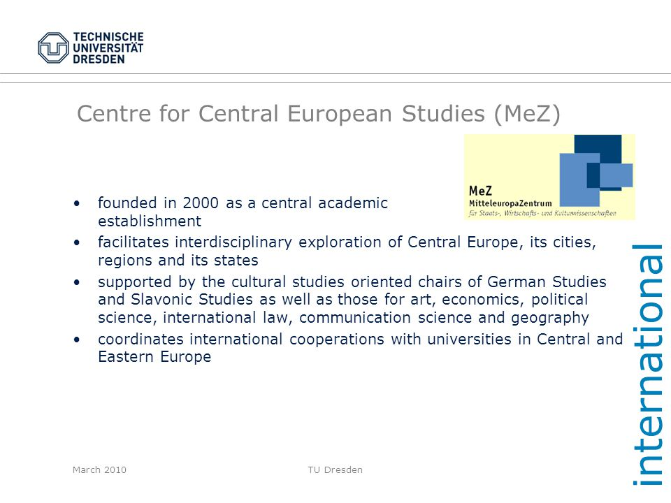Centre for Central European Studies (MeZ)