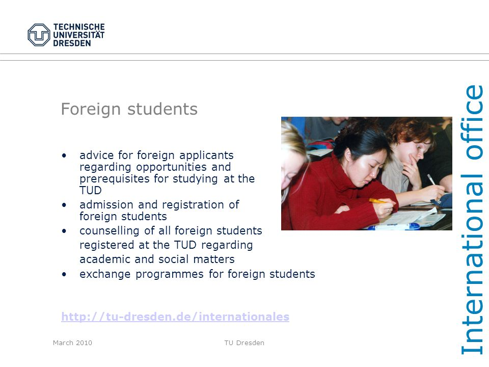 International office Foreign students