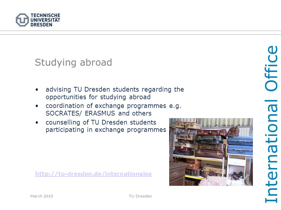 International Office Studying abroad
