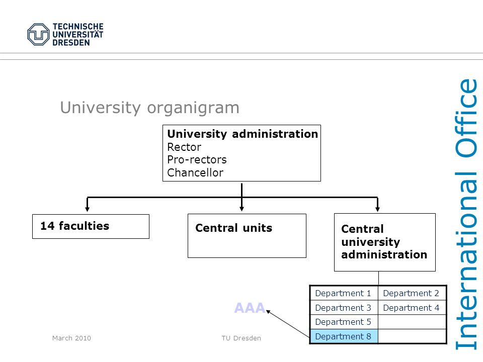 University organigram