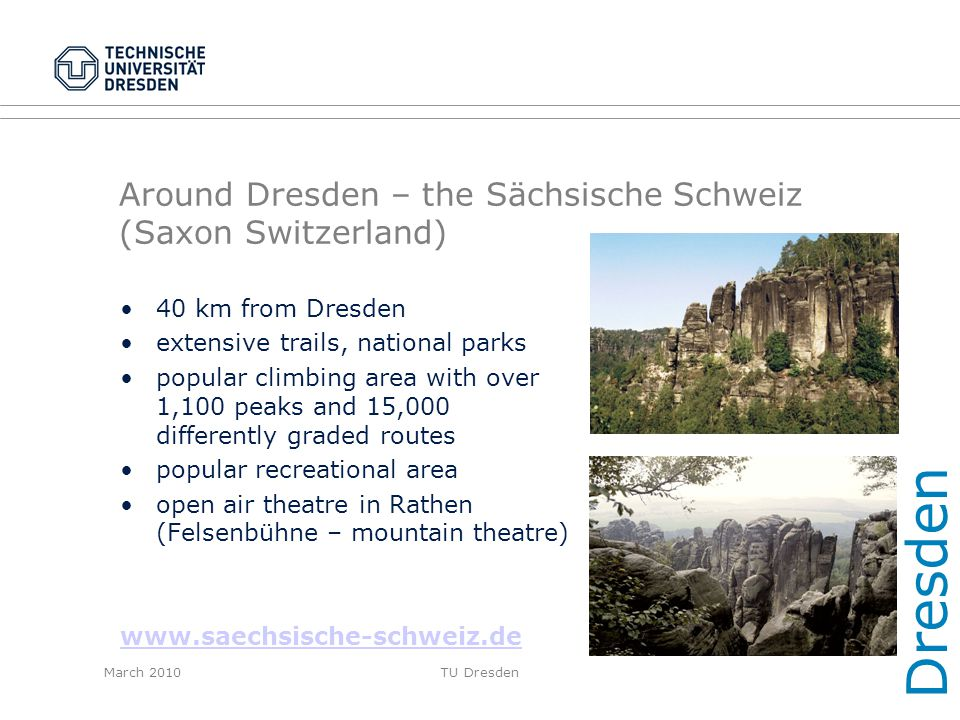 Around Dresden – the Sächsische Schweiz (Saxon Switzerland)